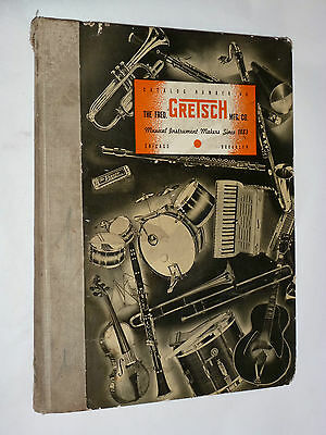 VINTAGE 1939 GRETSCH INSTRUMENT DEALER CATALOG! GUITARS/AMPS/BANJOS/HARMONICAS!