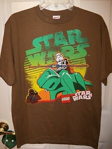 Lego-Star-Wars-Dewback-Brown-Short-Sleeve-Shirt-Boys-Size-18-20-NWT