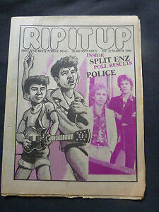 SPLIT-ENZ-RIP-IT-UP-ULTRA-RARE-NEW-ZEALAND-MUSIC-MAGAZINE-MAR-1980