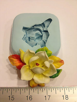 MAGNOLIA FLOWER SILICONE MOLD #38 CANDLE, SOAP, RESIN, KID CRAFT,FAVORS,WEDDING