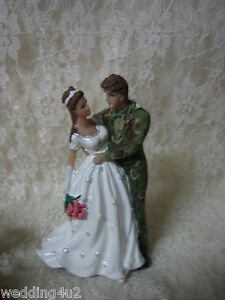 Wedding Reception Party Camo Hunter Hunting Military Cake Topper Redneck
