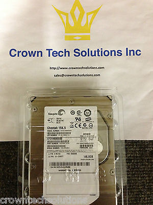 Dell Ry491 St3146855ss 9z2066-051 Seagate 146gb 15k Rpm Sas 3.5 Hard With Tray
