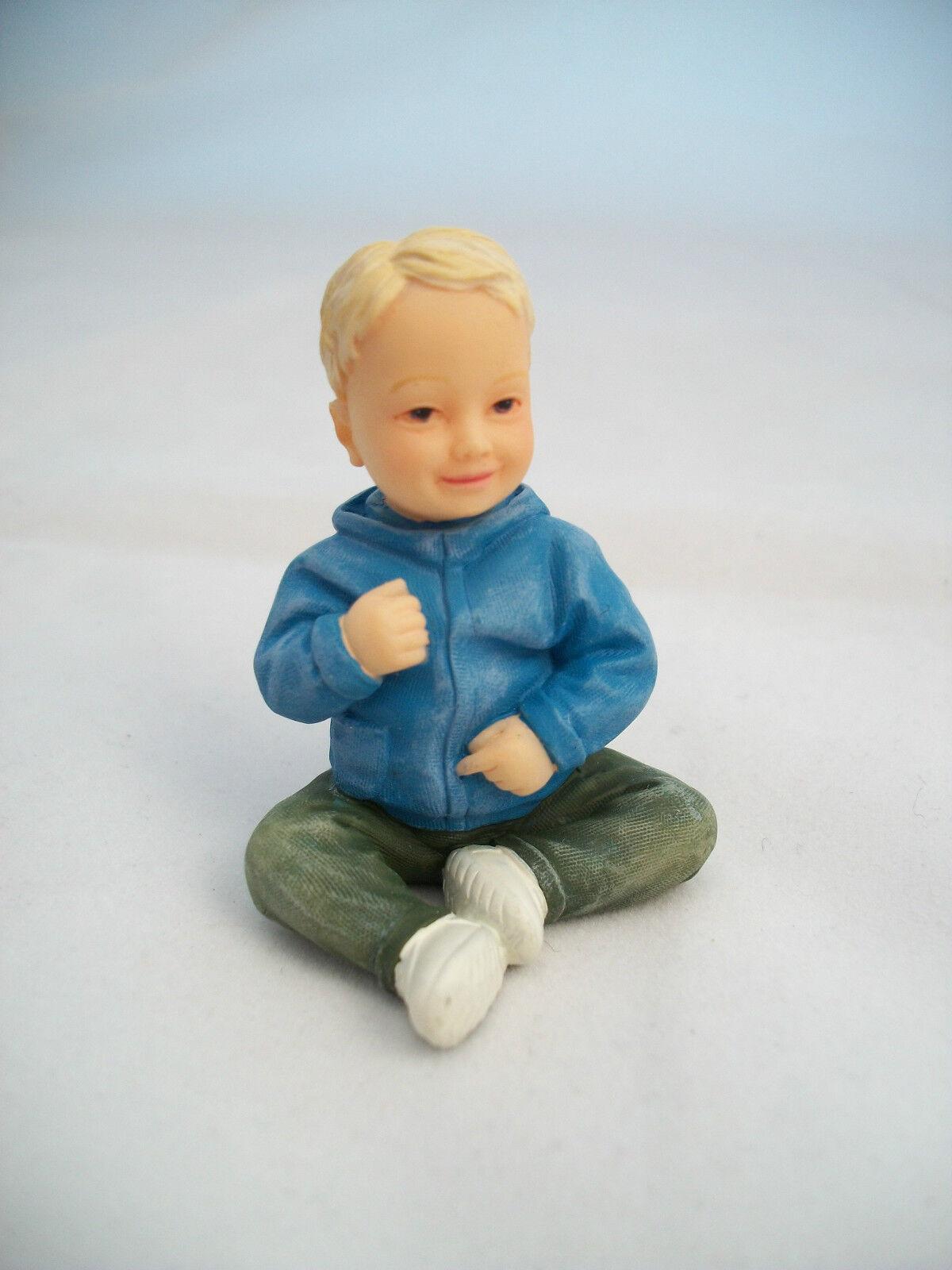 Resin Doll - Daniel (sitting Toddler Boy) 3073 1/12 Scale Houseworks