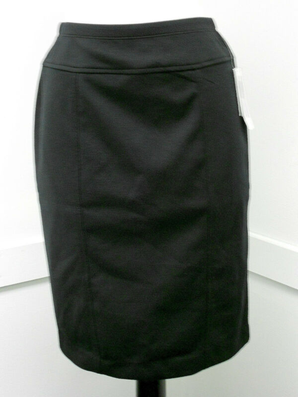 New Ellen Tracy Classic Stretch Knit Basic Office Skirt Black Gray S M L XL XXL