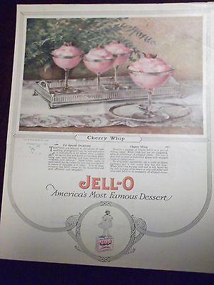 1923 Jell O Cherry Whip Dessert Recipe Advertisement