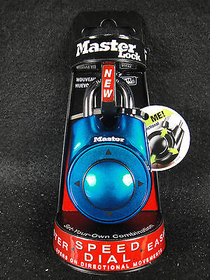 Master lock Speed Dial Resettable Combination 1500iD Directional Movement BLUE
