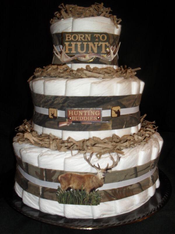 Deer Hunter Camo Theme Diapercake