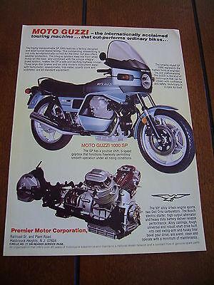 1980 MOTO GUZZ1 1000 SP ***ORIGINAL AD***