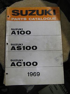 Suzuki A100/as100/ac100 Parts Catalogue 1969 Excellent