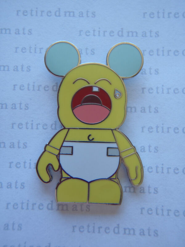 AUTHENTIC Disney Vinylmation Pin Urban #6 CRYING BABY Yellow Diaper Mickey REAL