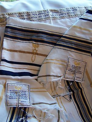Messianic Jewish Tallit Talit Prayer Shawl & Talis Bag designer Dr. Rick Kurnow