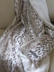 Snow Leopard Blanket Ebay