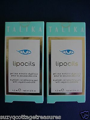 2 X Talika Lipocils Eyelash Conditioning Gel 4.2ml Grow 28 Days Eye Lash Usa