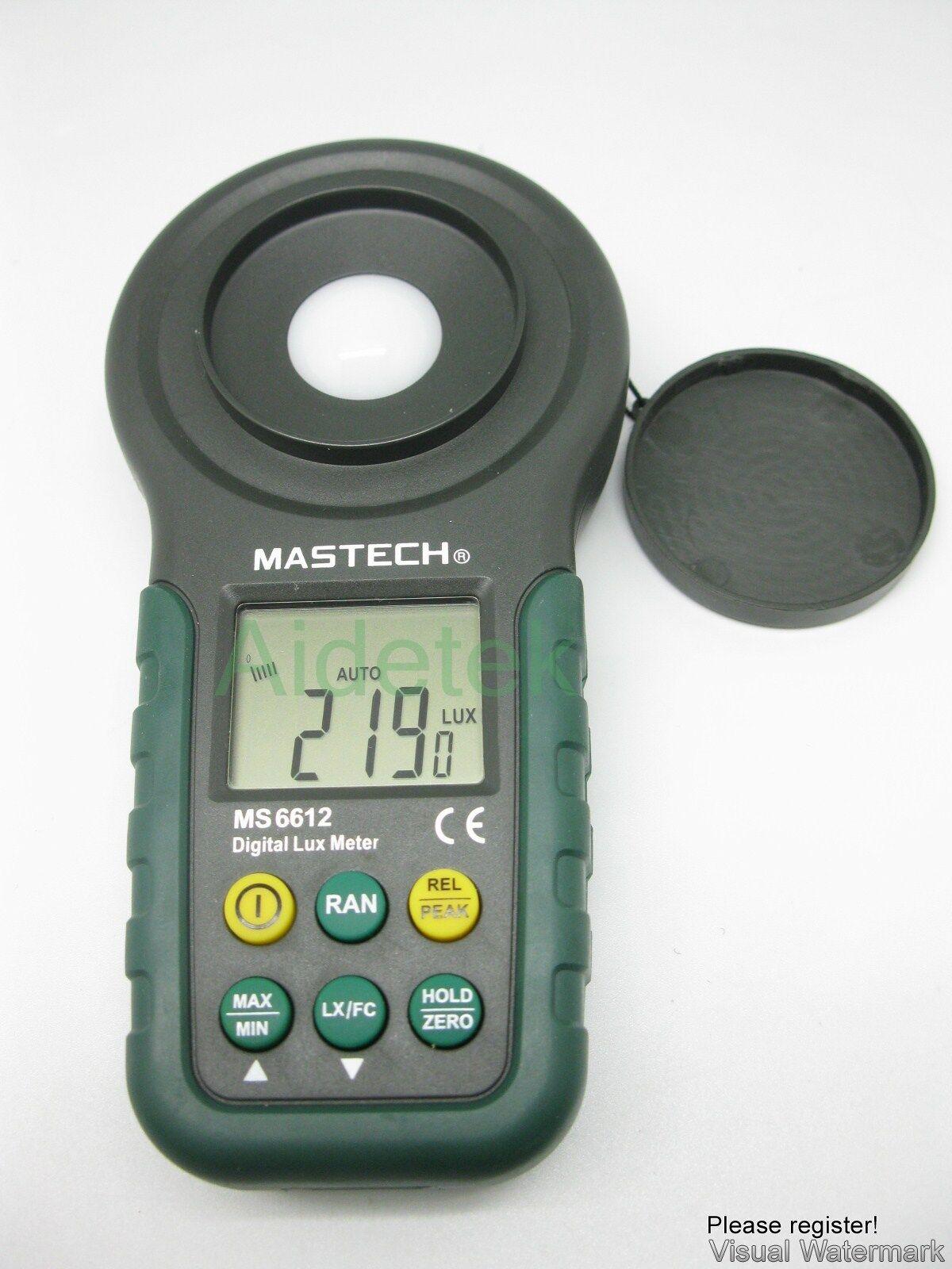 Mastech Pro Multi Function Luxmeter Ms6612 Light Meter Fo...