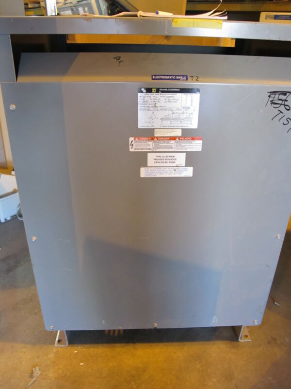 Square D 112T3HF15NLP 112.5 KVA 3 Phase 480 X 120/208V Transformer (NS) - T157