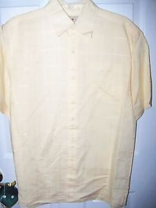 Royal-Palm-Parmesan-Yellow-Button-Short-Sleeve-Dress-Shirt-Mens-Size-XL-NWT
