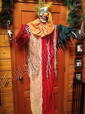 Halloween Scary Creepy Light Up Morph Evil Clown Hanging Decor Figure Prop 5.5'
