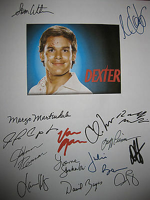 Dexter Pilot Signed TV Script X15 Michael C Hall Julie Benz Velez Remar reprint