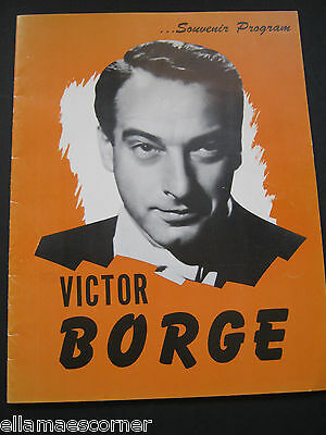 Victor Borge Comedy Concert Souvenir Program 1953