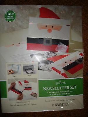 Hallmark Newsletter Set Memorable Way To Send Newsletters And Photos Santa
