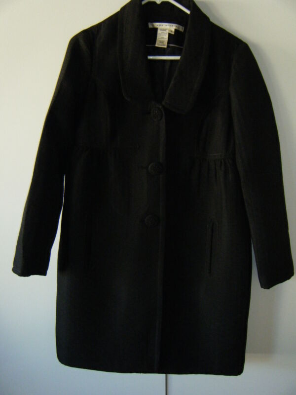 WOMENS MAX STUDIO BLACK COAT BLACK QUILTED SIZE 6 NEW REALLY UNIQUE
