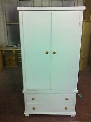 Old Mill Furniture Arizona Gents 2 Drawer Robe White Pine Trim No Flat Packs