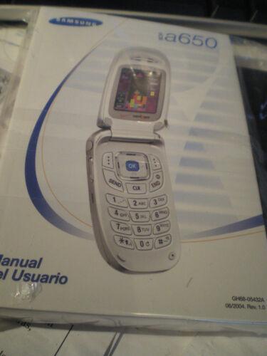 Verizon Samsung a650 Manual + CD