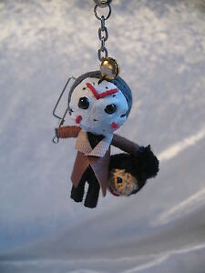 Voodoo Doll Keyring Keychain Charm ☆Creepy String Doll Characters *Choose Design