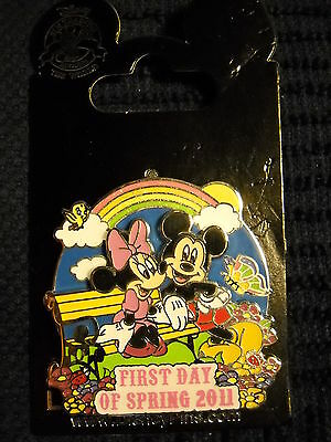 "DLR ""First Day of Spring 2011 - Mickey and Minnie Disney Pin NEW"