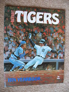 1974-DETROIT-TIGER-YEARBOOK-NR-MT-KALINE-HORTON