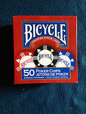 Bicycle Premium Tournament quality 8 gram Clay filled Poker Chips!
