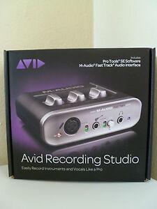 NEW-Avid-Recording-Studio-M-Audio-Fast-Track-Audio-Interface-Pro-Tools-SE-USB