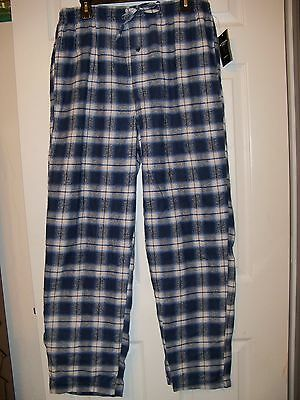 Accents By Isaco Blue Flannel Pajama Pj Sleep Lounge Pants Mens Size Large