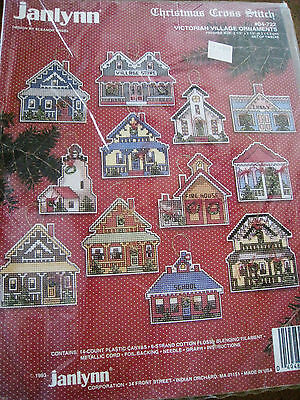 Christmas Janlynn Counted Cross Ornament Kit,victorian Village,plastic,04-722