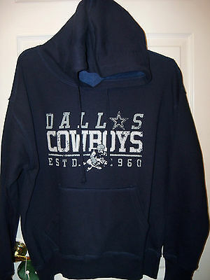 Dallas Cowboys Football Navy Blue Hoodie Jacket Mens Size Large