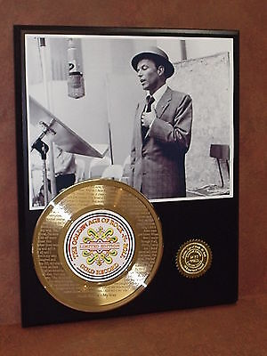 """FRANK SINATRA ETCHED W/ """"MY WAY."""" ETCHED GOLD 45 RECORD LTD EDITION DISPLAY"""