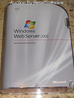 Microsoft Windows Web Server 2008 32-/64-bit, Sealed Retail Box, Pn Lwa-00724