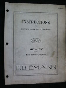 1930-EISEMANN-GL-GV-SERIES-HIGH-TENSION-MAGNETOS-RESETTING-INSTRUCTIONS-MANUAL