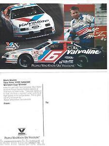 1992-MARK-MARTIN-VALVOLINE-6-NASCAR-WINSTON-CUP-SERIES-POSTCARD