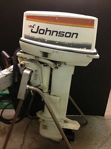 1978 johnson 35 hp outboard motor electric start remote