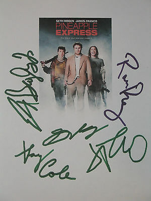 Pineapple Express Signed Movie Script Seth Rogen James Franco Gary Cole Reprint