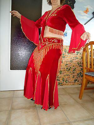 Bauchtanz Kostüm Rot Neu von Nelija Huber  ca.Gr.38-42 mit - Tanz Kostüm Zubehör