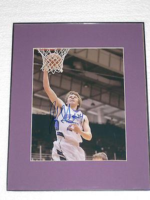 John Shurna Signed 8x10 Photograph Framed Northwestern Basketball COA