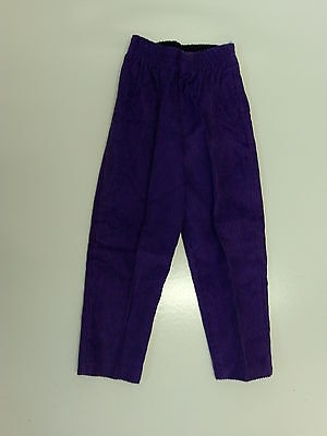 retro vintage childrens girls purple cords elasticated waist 44-60cm height 58cm