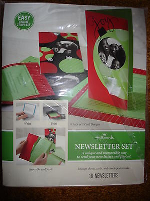 Hallmark Newsletter Set Memorable Way To Send Newsletters And Photos Green/red
