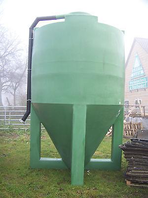 Futtersilo Getreide Silo 10 cbm Polyethylen incl. mit Schnecke u Einfüllleitung
