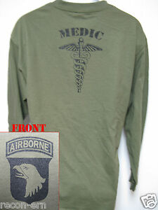 101-AIRBORNE-LONG-SLEEVE-T-SHIRT-MEDIC-COMBAT-MILITARY-ARMY-NEW