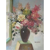 """Original Hand Painted Telford Floral 8""""x10"""" Oil Painting Canvas Art"""