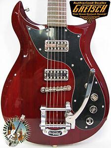 Gretsch-G5135-Electromatic-Corvette-CVT-Guitar-Vintage-1960s-Style-Cherry-w-Case