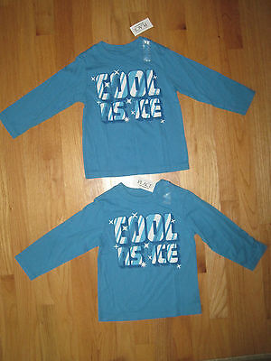 Twin Boys Cool As Ice Turquoise Blue Shirts 24m